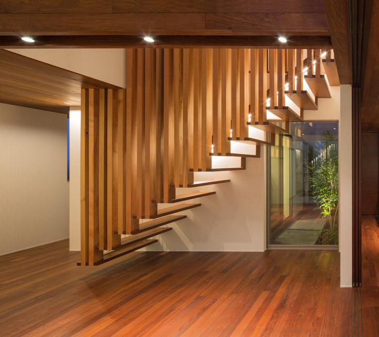 Kids Bedroom Ideas Suspended Wooden Staircase Floats On Air - Captivatist