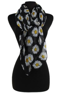 Daisy Pattern Soft Scarves & Wraps