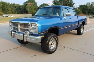 1985 Dodge W350 Crew Cab Short Bed 4x4 1993 59 Cummins