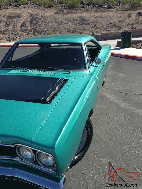 1968 Plymouth Roadrunner hardtop 383 surf turquoise no reserve not