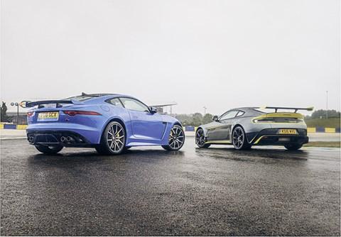 Aston Martin Vantage GT8 vs Jaguar F-type SVR twin test review (2016) | CAR Magazine