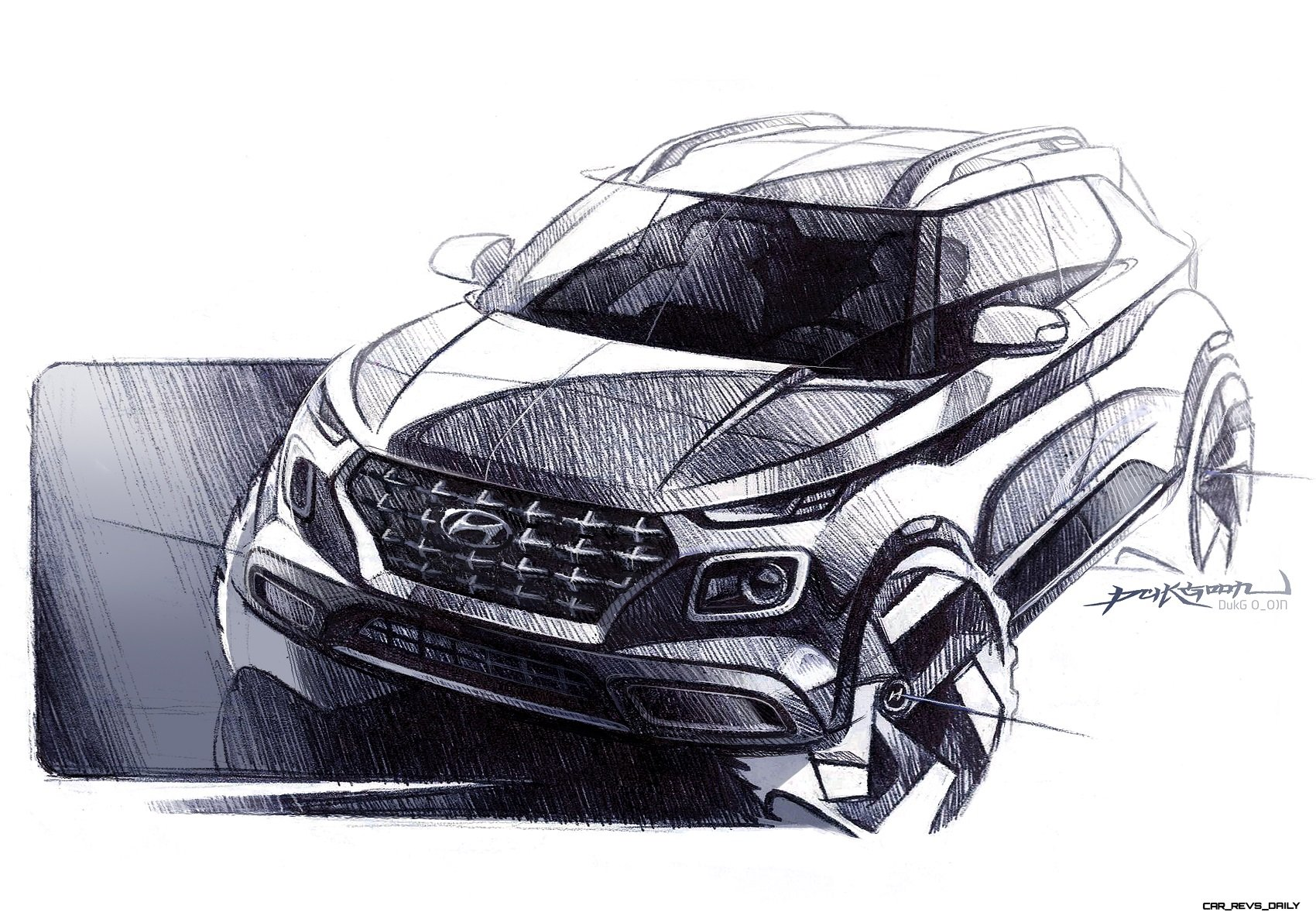 Cuv Car Hyundai Sheds More Light On Upcoming Venue Cuv With New Sketches