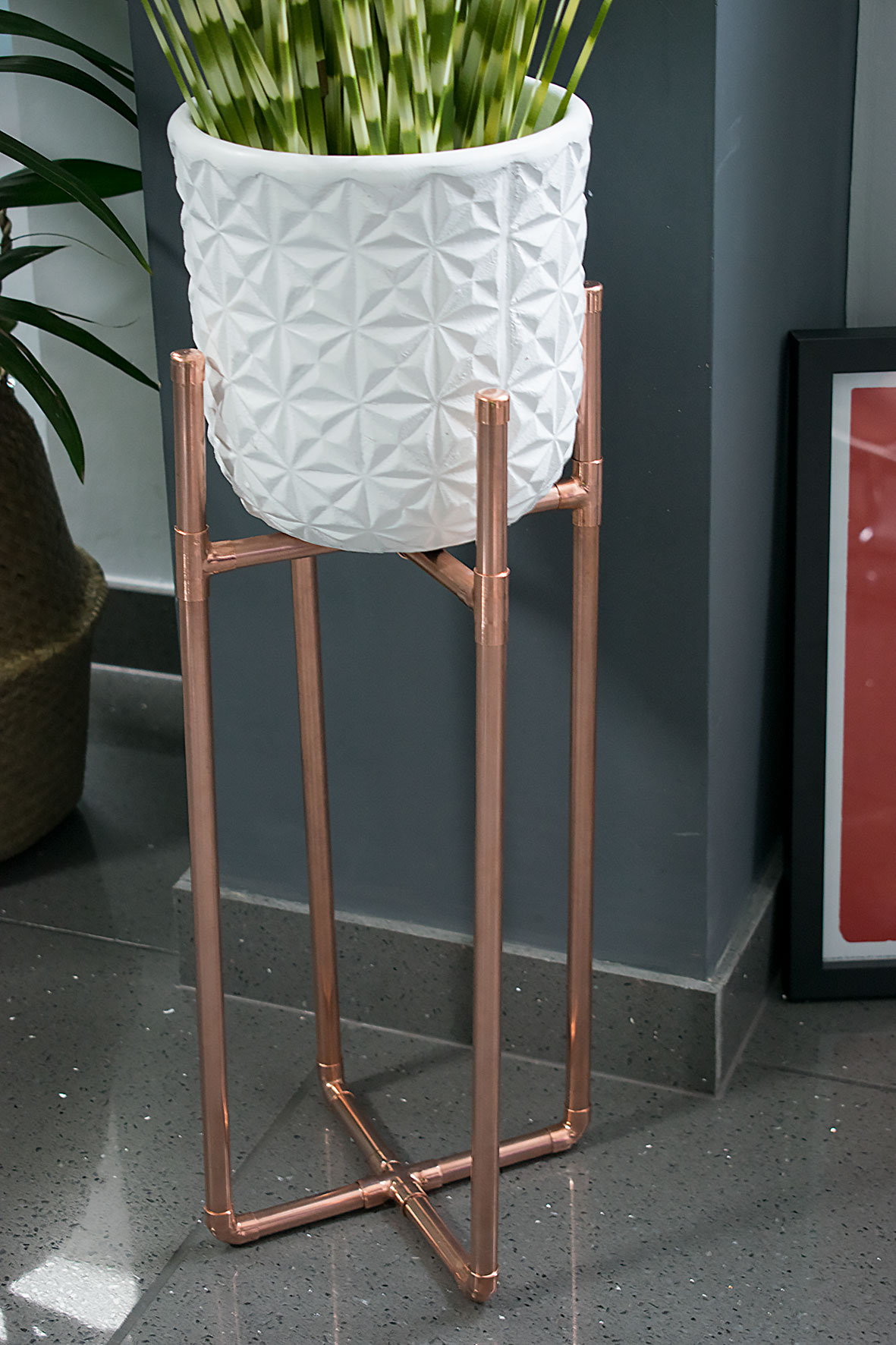 Build Plant Stand How To Make A Diy Copper Plant Stand Caradise