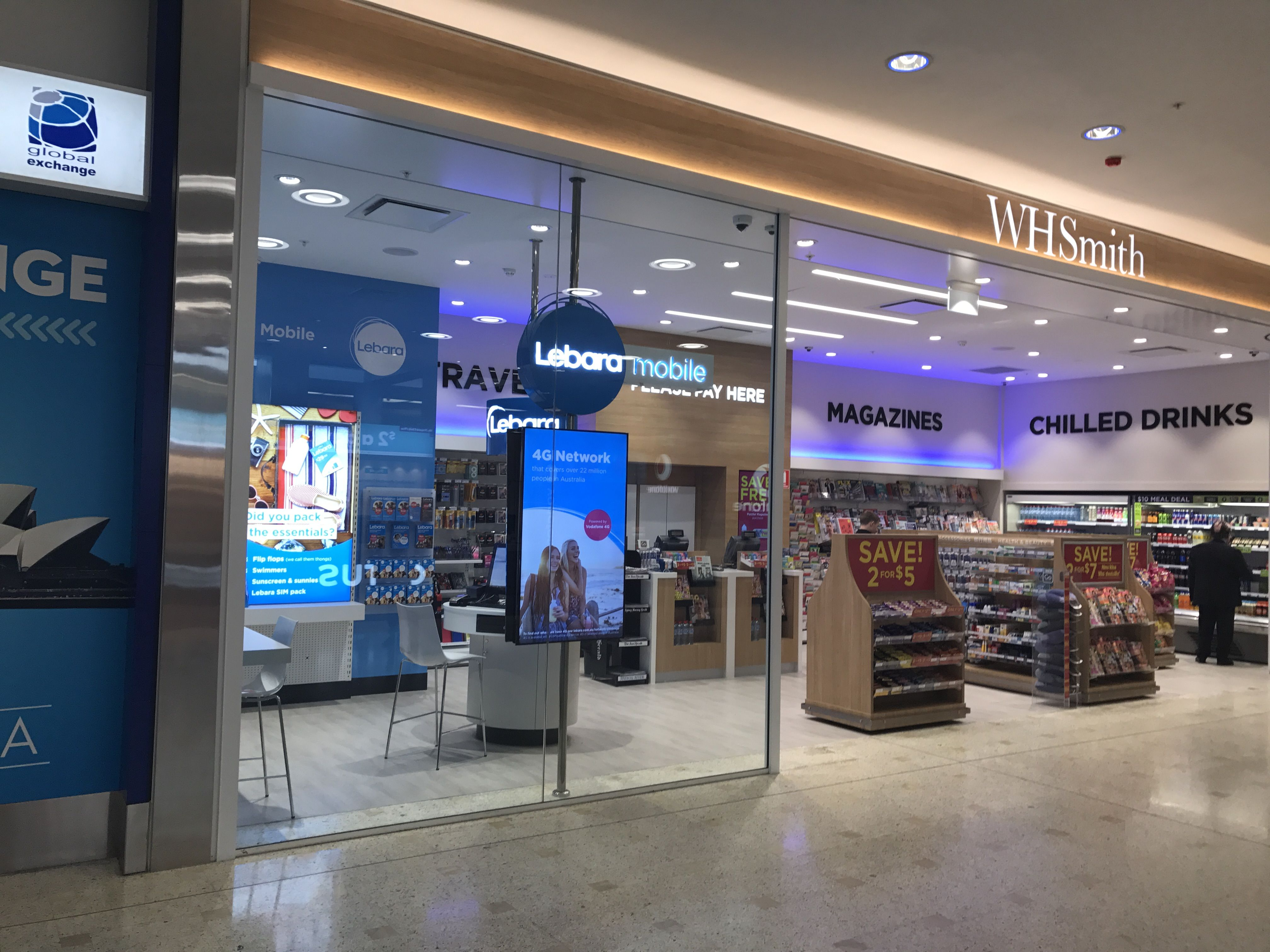 Sydney Airport Shops Telstra Fre 1 1 And Wh Smith May Stores