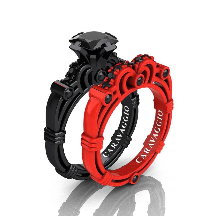 Fullsize Of Black Wedding Rings