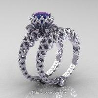 Caravaggio Lace 14K White Gold 1.0 Ct Alexandrite Diamond ...