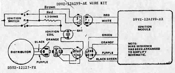 Ford Ballast Resistor Wiring Diagram Electronic Schematics collections