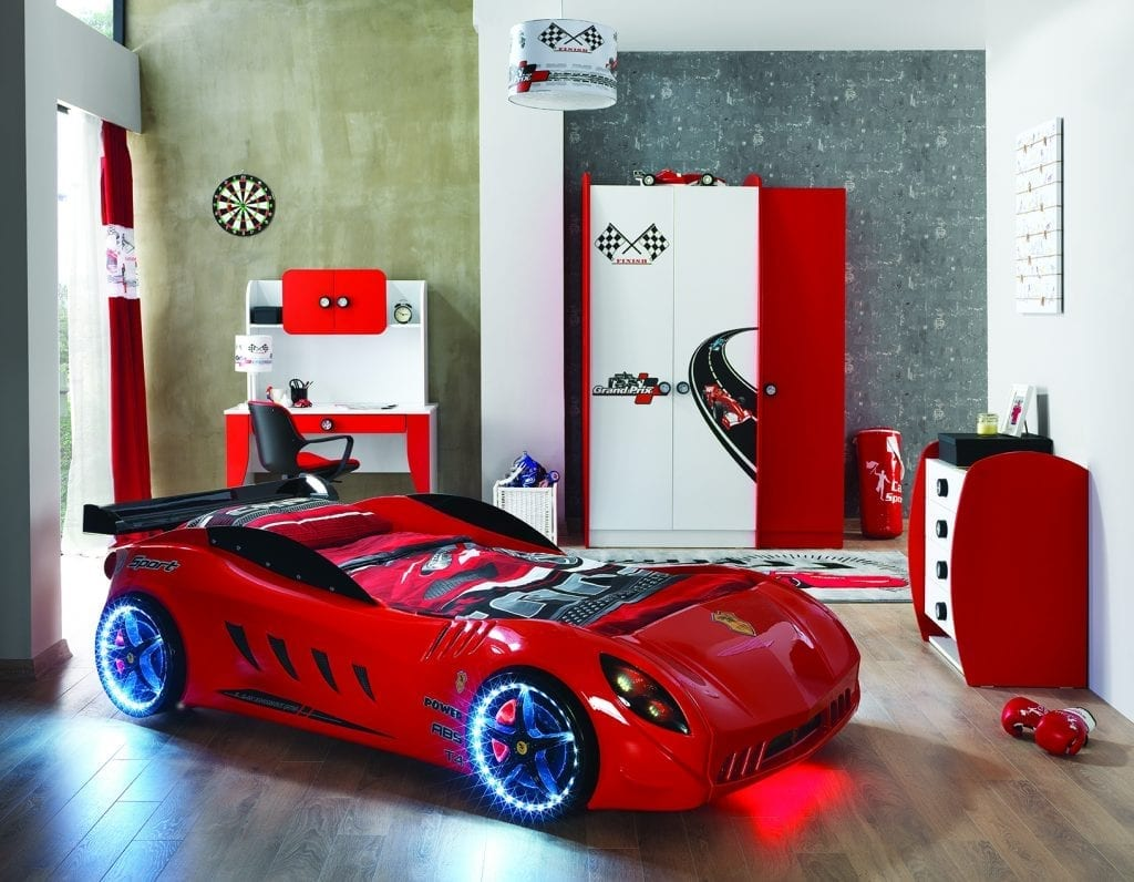 F12 Race Car Bed Red Car Bed Shop Kids Bed Shop - Cars Autobett