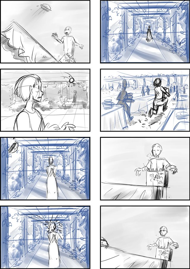 Art of Carolyn Carter - Storyboard sample