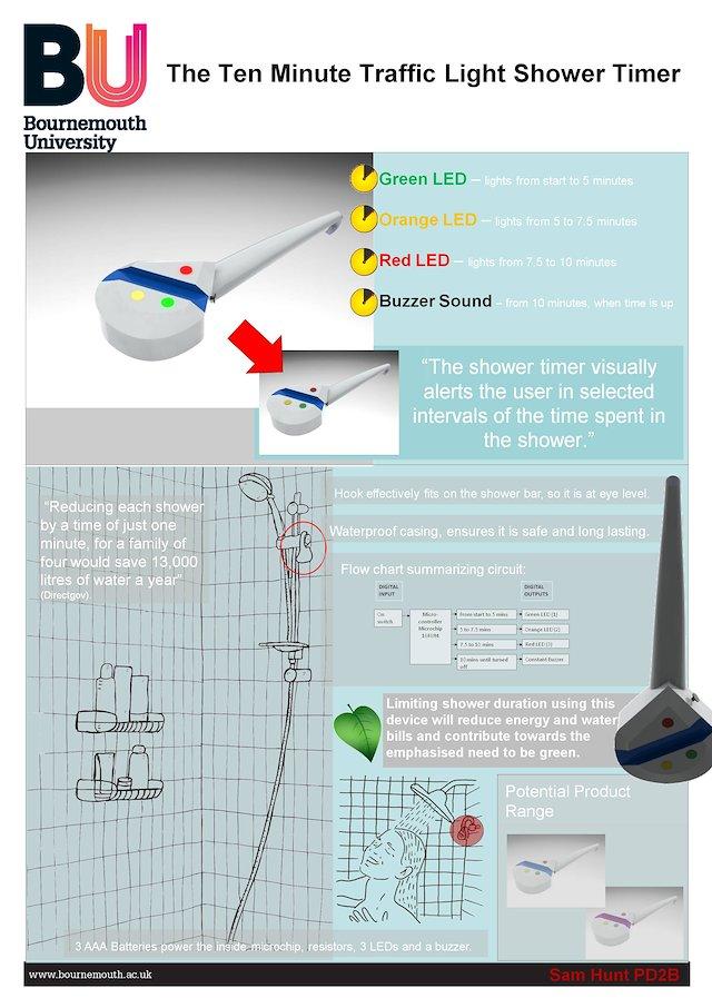 Hunt4Design - The Ten Minute Traffic Light Shower Timer