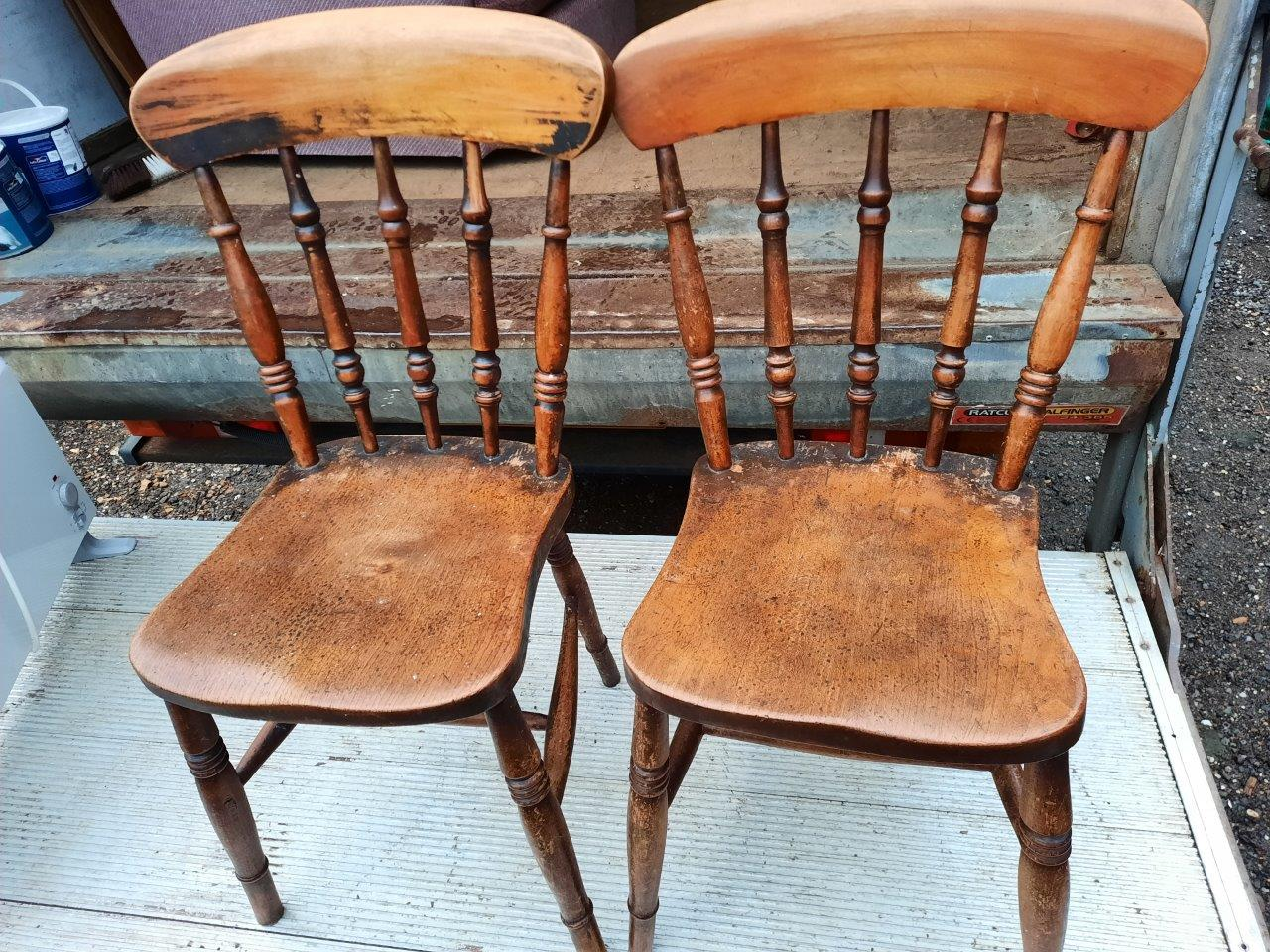 Vintage Farmhouse Chairs Car Boot Warehouse