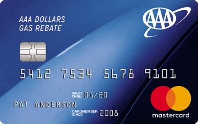 AAA Dollars® Mastercard®   AAA Dollars Gas Rebate