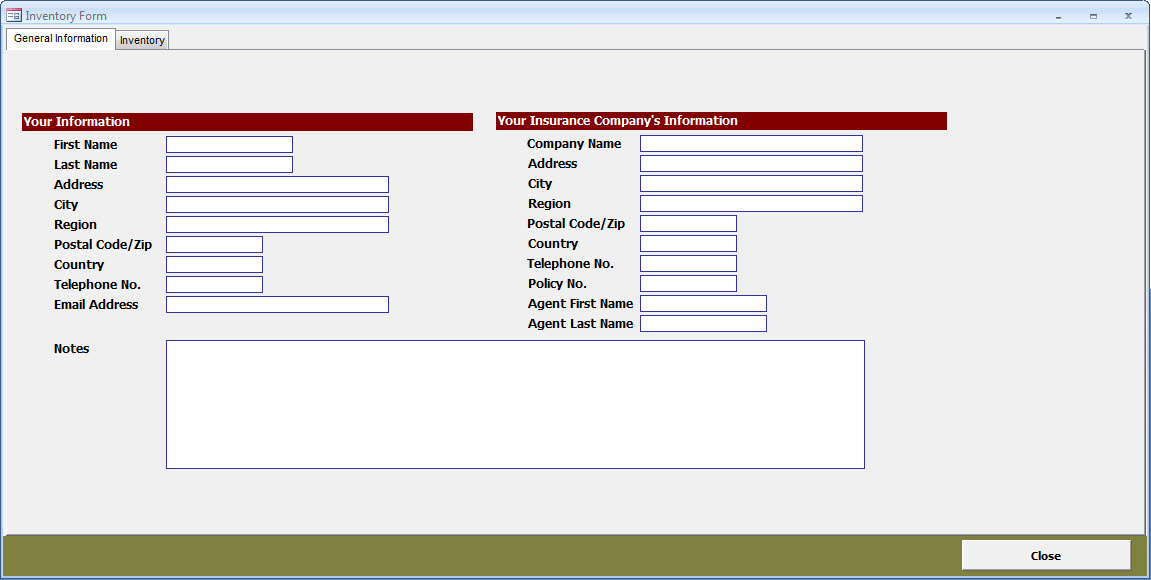 MS Access Insurance Inventory Database CARDA Consultants Inc - how to create an inventory database