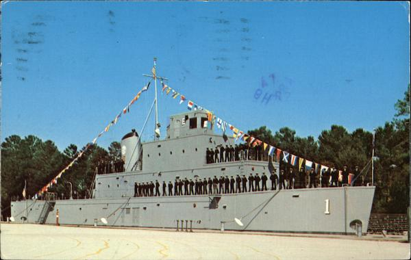 25 Cm U.s. Naval Training Center - Bluejacket 1 Orlando, Fl Postcard