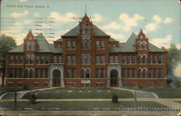 Photo Stock School Central High School Canton Il Postcard