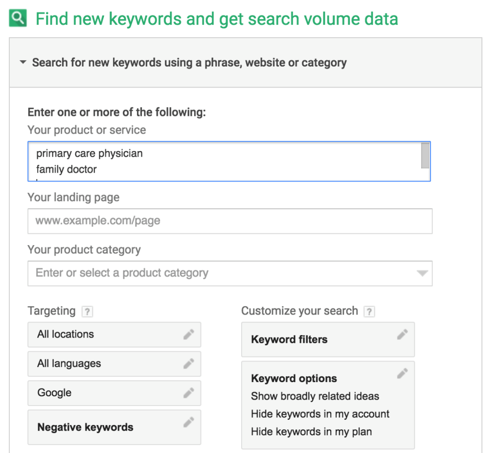 Google Adwords Keywords 3 Ways Google Adwords Keyword Planner Can Grow Your Medical