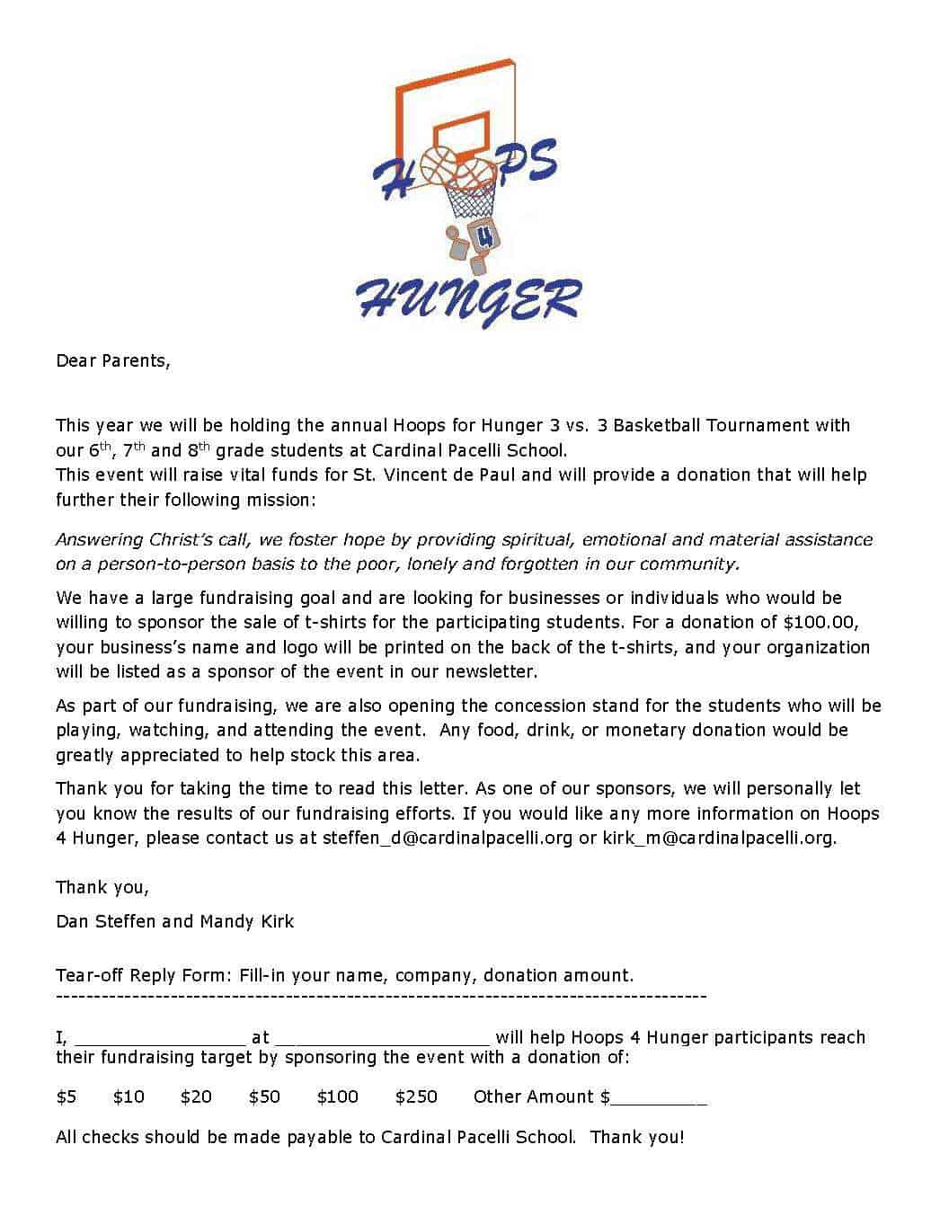 Sponsorship Intent Letter – Letter of Intent for Sponsorship