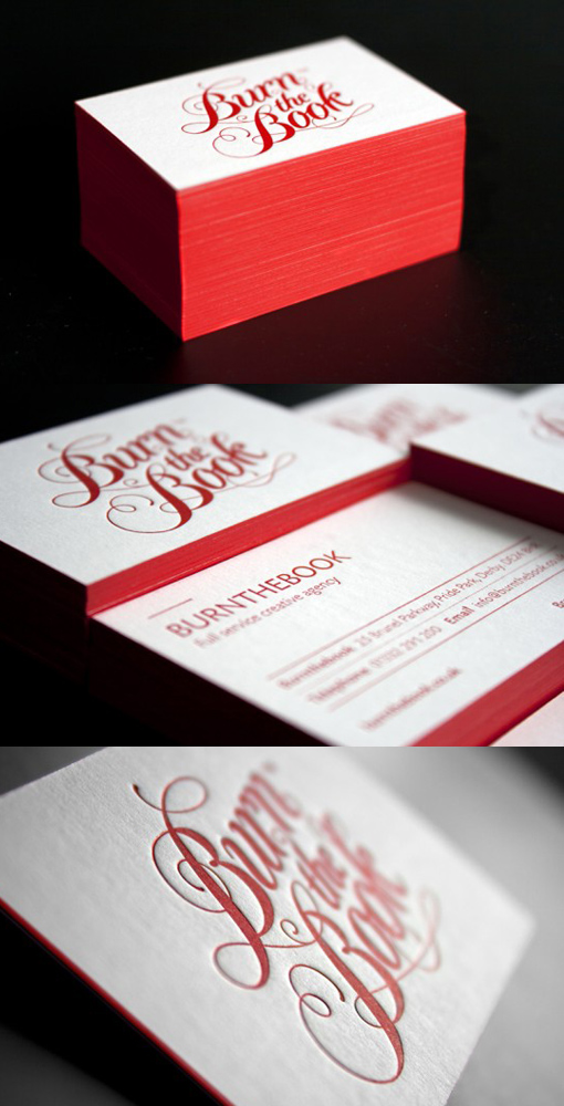 Red Letterpress Cards CardObserver - Letterpress Business Card