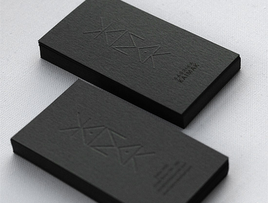 Unique Letterpress Business Card \u2013 Kaimak CardRabbit