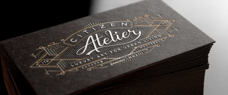 Unique Letterpress Business Cards \u2013 Citizen Atelier CardRabbit