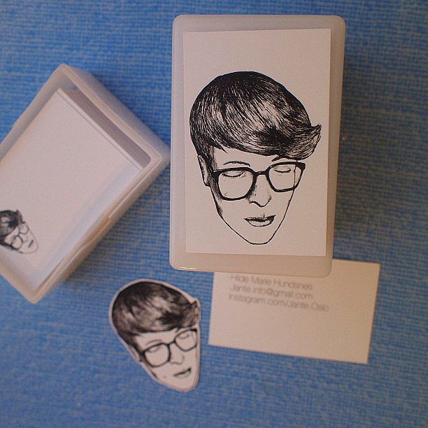 Creatively Illustrated Portrait Business Cards CardRabbit