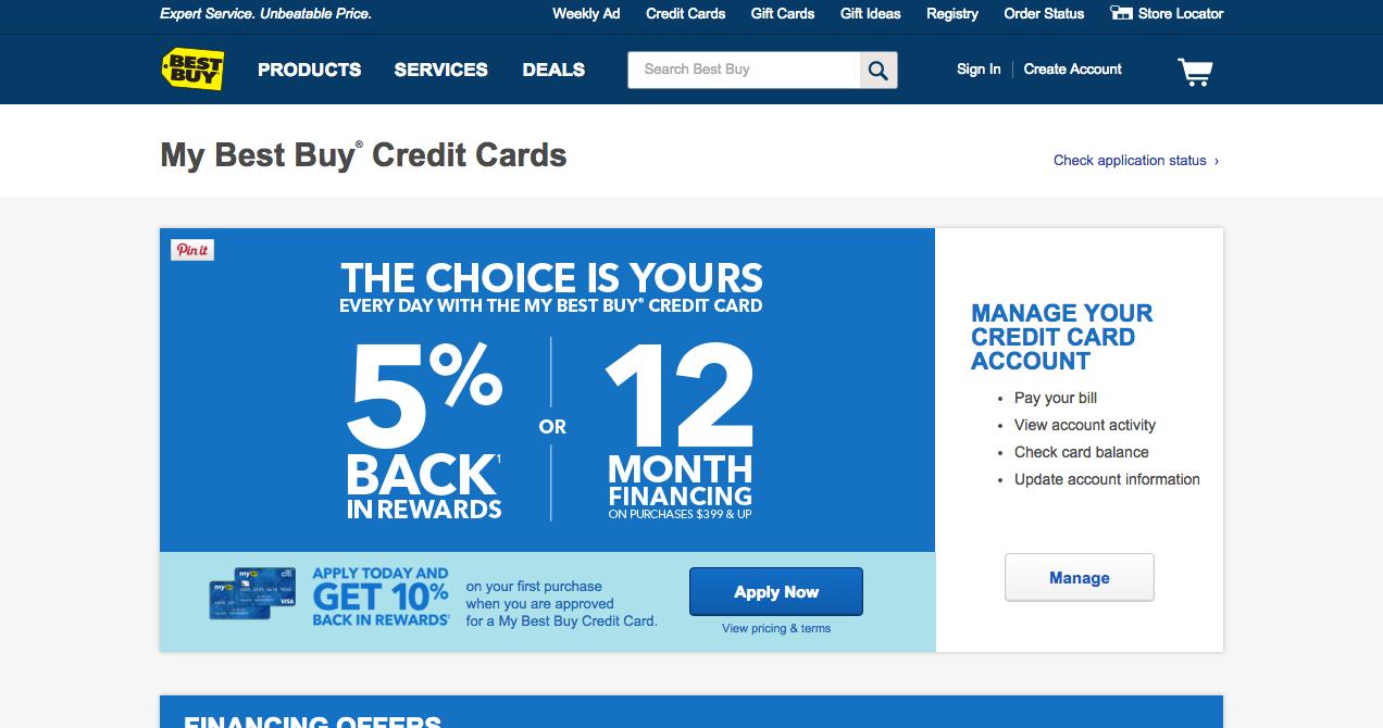 Best Buy Credit Card Login Pay Bill