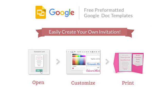 Cards and Pockets - Free Google Invitation Templates