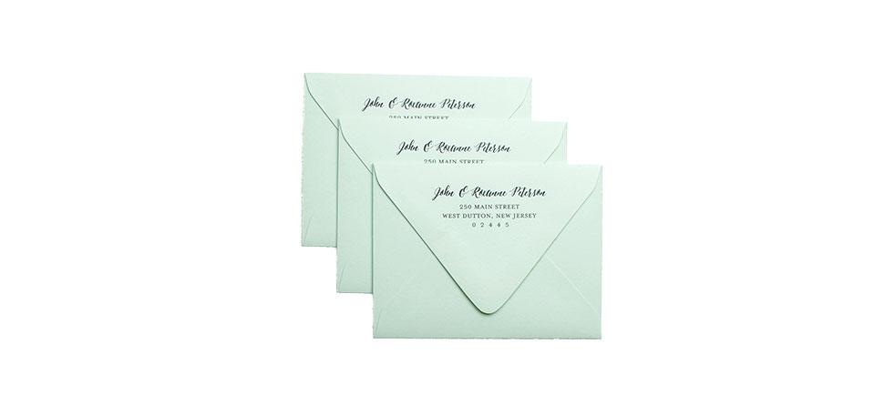 Cards and Pockets - Return Address Printed Envelopes