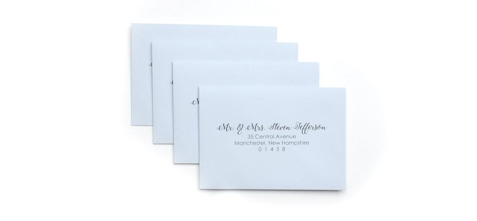 Cards and Pockets - RSVP Address Printed Envelopes