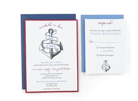 Anchored in Love - Free Wedding Invitation Template