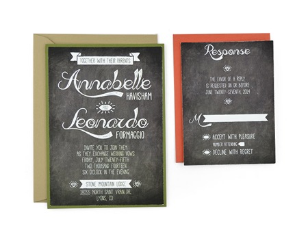 Chalkboard -Free Wedding Invitation Template - chalk board invitation template