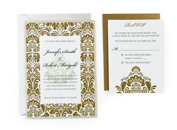 Damask - Free Wedding Invitation Template - Invitations Templates
