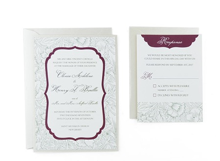 Elegant Floral - Free Wedding Invitation Template