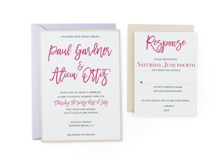 Simply Elegant Free Wedding Invitation Template