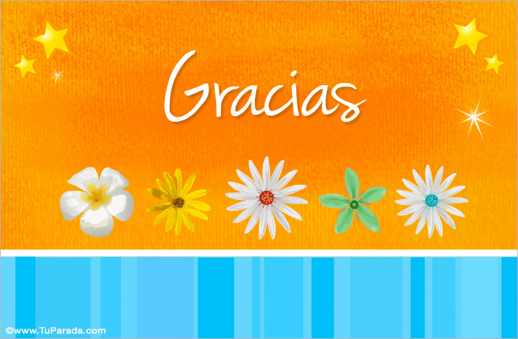 Tarjeta de agradecimiento - Gracias, tarjetas