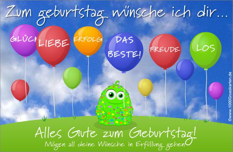 Animierte Geburtstagskarte - Geburtstag, E-Cards