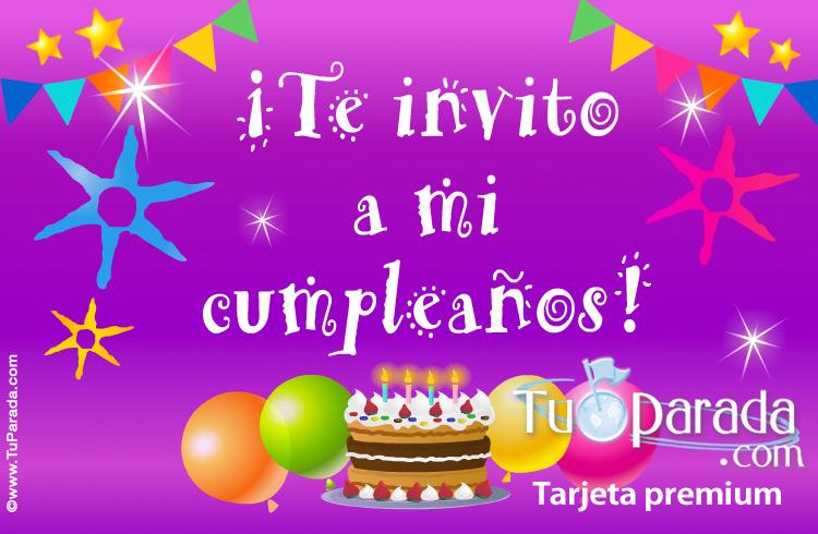 Te invito a mi cumpleaños - Invitaciones para cumpleaños, tarjetas