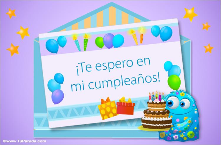 Invitación a mi cumpleaños - Invitaciones para cumpleaños, tarjetas