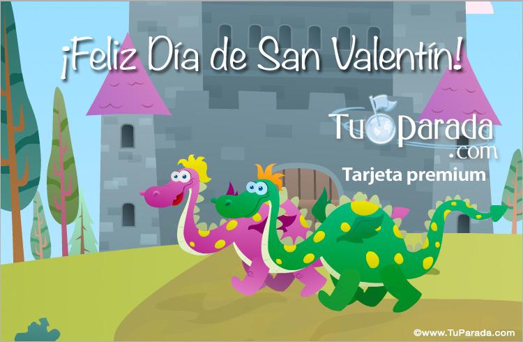 Tarjeta de San Valentín, tarjeta para el día de los enamorados