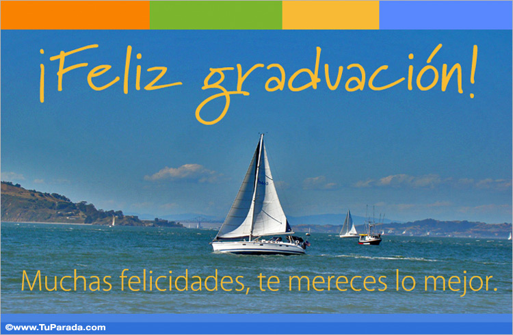 Tarjeta de graduación con barco - Graduación, tarjetas