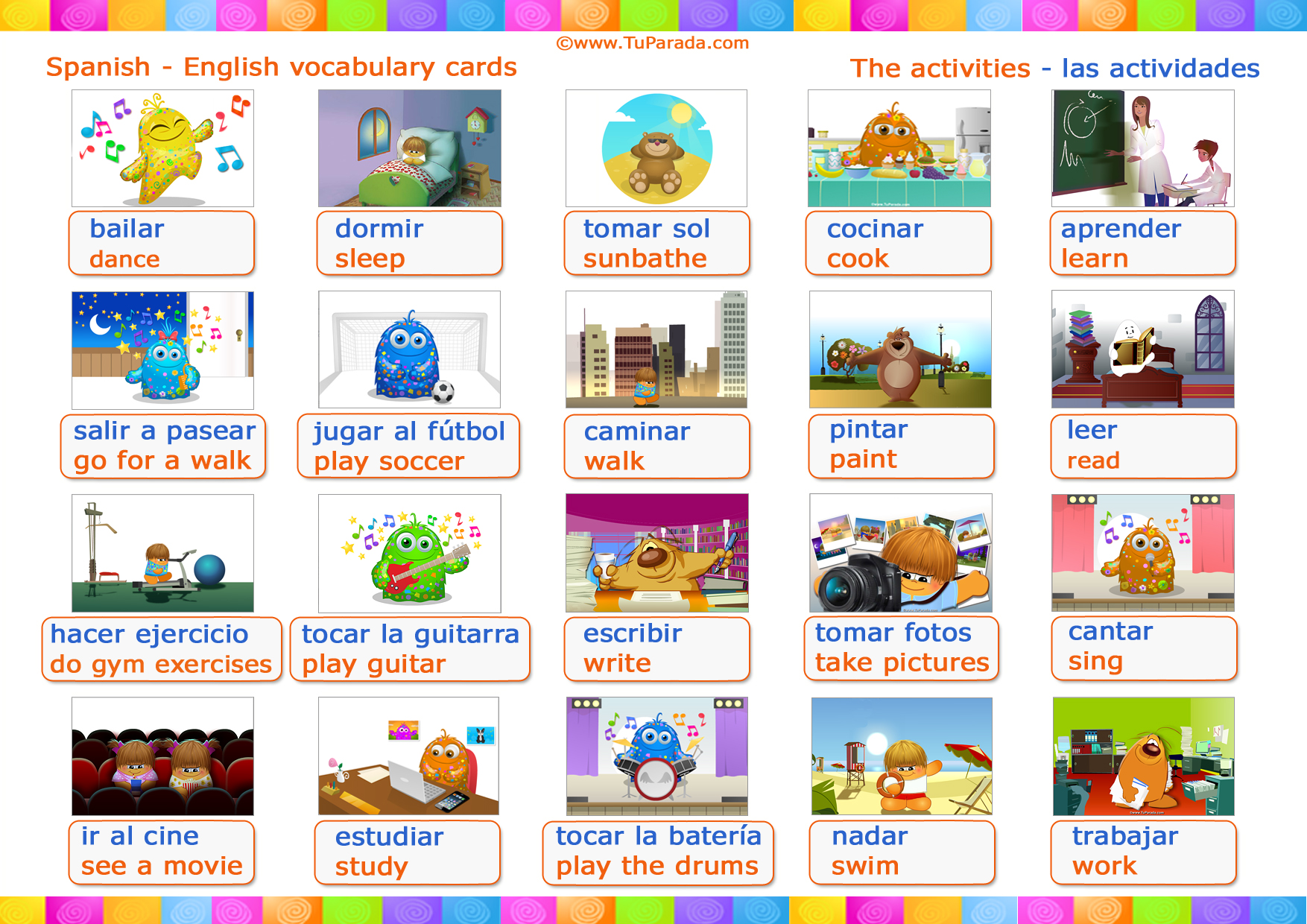 Animaciones Infantiles Cocina Vocabulario Actividades Activities Vocabulario