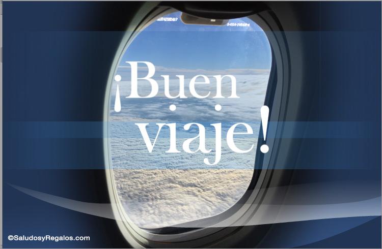 Tarjeta de buen viaje - Viajes y vacaciones, tarjetas