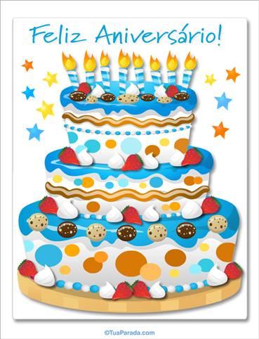Cartões virtuais, cartões de aniversário, postais grátis, datas