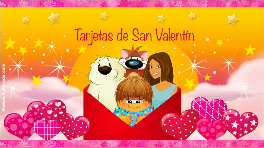 Tarjetas de San Valentín, postales día de San Valentin, tarjeta San