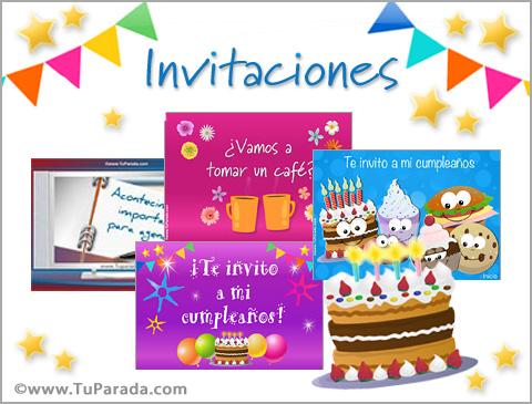 Invitaciones de cumpleaños, invitaciones para fiestas de cumpleaños