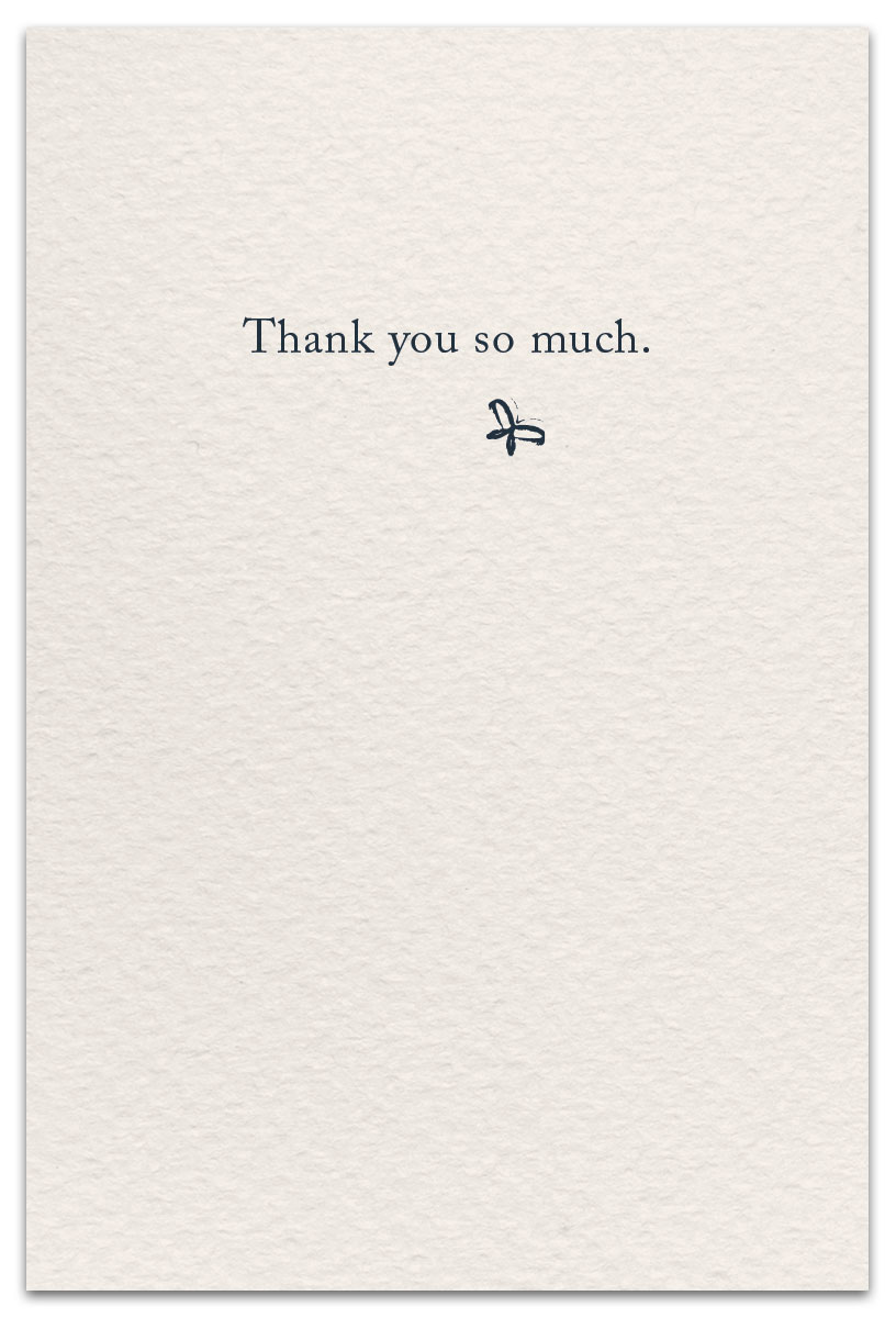 thank you cards with message inside