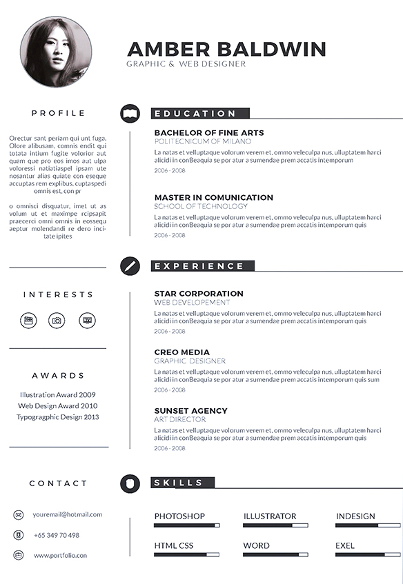 iconic resume template