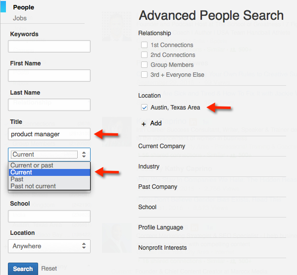 2 Method to Find Companies - LinkedIn Advanced Search - Career Pivot - how to search resumes on linkedin