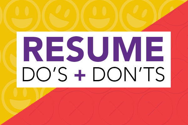 Resume Do\u0027s and Don\u0027ts « Career Development Blog - resume dos and donts