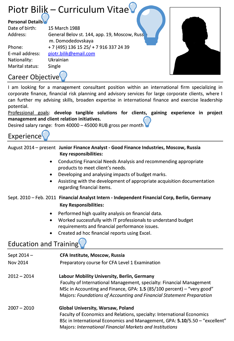 should a cv include photo